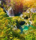 Plitvice lakes of Croatia - national park in autumn Stock Photos