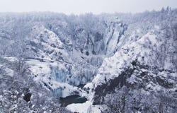 Plitvice Lakes, Croatia. National park Plitvice lakes, Croatia - winter stock photo