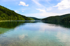 Plitvice lakes in Croatia. Nature travel background Stock Photography