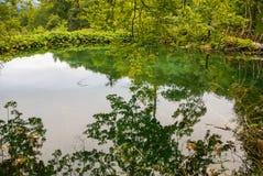 Plitvice lakes in Croatia - nature travel background Stock Photo