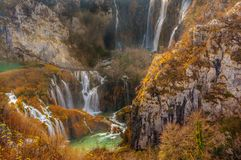 Plitvice Lakes: Croatia`s Natural Wonder Unveiled stock images