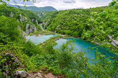 Plitvice Lakes in Croatia Royalty Free Stock Photo