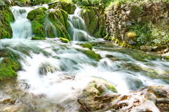 Plitvice Lakes in Croatia. Waterfalls of Plitvice Lakes in Croatia Royalty Free Stock Photography