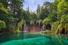Plitvice lakes i Kroatien Fotografering för Bildbyråer