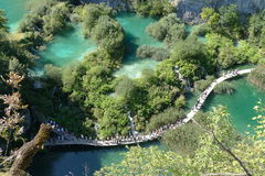 Plitvice lakes national park. Croatia's first National park Plitvice lakes Stock Images