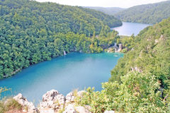 Plitvice Lakes National Park. Scenic view of forested Plitvice Lakes National Park, Croatia stock photography