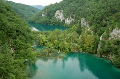 Plitvice Lakes National Park. The Plitvice Lakes (Plitvička jezera) are a national park in Croatia Stock Photos