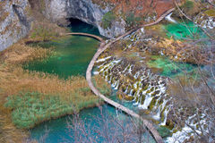 Plitvice lakes national park canyon Stock Images