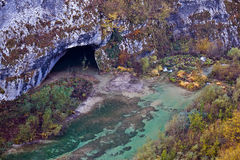 Plitvice lakes National park cave Stock Photography