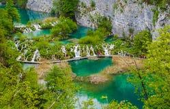 Plitvice lakes. National park of Croatia Stock Photos