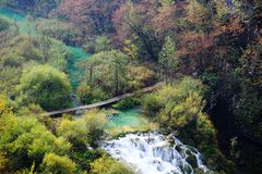 Plitvice Lakes National Park , Croatia. Plitvice Lakes National Park is one of the oldest national parks in Southeast Europe and the largest national park in stock image