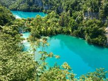 Plitvice lakes. National park in Croatia. Unesco Stock Photo