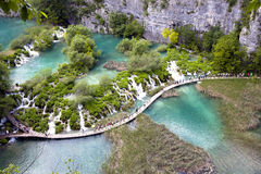 Plitvice Lakes - National Park in Croatia Stock Photography