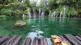 Plitvice Lakes National Park in Croatia stock footage