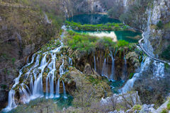 Plitvice Lakes National Park. Exploration royalty free stock photos