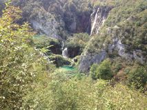 Plitvice Lakes. National Park is  the largest national park in Croatia Royalty Free Stock Images