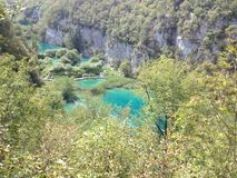 Plitvice Lakes. National Park is  the largest national park in Croatia Royalty Free Stock Photo