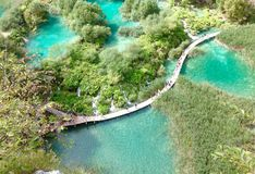 Plitvice Lakes. National Park is  the largest national park in Croatia Stock Images