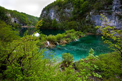 Plitvice Lakes - Croatia. Plitvice Lakes National Park is the most popular tourist attraction in Croatia. Its 16 lakes are connected by numerous waterfalls. It Royalty Free Stock Image