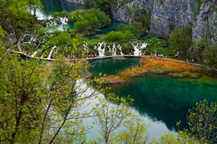 Plitvice Lakes - Croatia. Plitvice Lakes National Park is the most popular tourist attraction in Croatia. Its 16 lakes are connected by numerous waterfalls. It Stock Photography