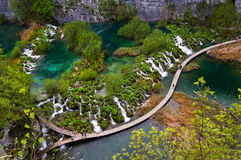 Plitvice Lakes - Croatia. Plitvice Lakes National Park is the most popular tourist attraction in Croatia. Its 16 lakes are connected by numerous waterfalls. It Stock Photo
