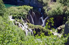 Plitvice Lakes National Park. Plitvice - Mountain landscape with waterfalls and lakes. Croatia Stock Images