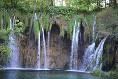 Plitvice Lakes National Park, turquoise lakes and waterfalls in Croatia - UNESCO World Heritage royalty free stock photo