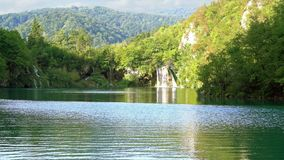Plitvice Lakes National Park. Upper lakes waterfalls in Plitvice Lakes National Park, Croatia stock video footage