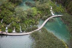 Plitvice Lakes Natural Park in Croatia royalty free stock photos