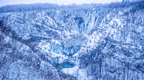 Plitvice lakes panorama Stock Images