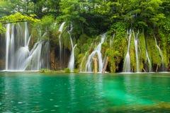 Plitvice lakes. Park in Croatia Royalty Free Stock Photos