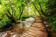 Plitvice lakes park in Croatia Stock Photo