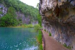 Plitvice lakes promenade Croatia Royalty Free Stock Photography