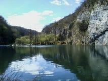 Plitvice lakes reflections, Croatia stock image