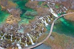 Plitvice lakes UNESCO world heritage national park Stock Image