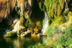 Plitvice lakes. Waterfall Royalty Free Stock Photos