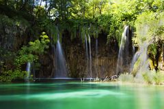 Plitvice lakes waterfall, Croatia Royalty Free Stock Image