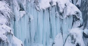 Plitvice lakes waterfall detail stock video footage