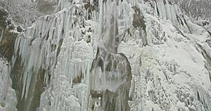 Plitvice lakes waterfall detail stock video