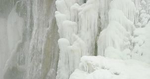 Plitvice lakes waterfall detail stock footage