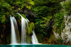 Plitvice lakes Waterfall. Great Waterfall at Plitvice Lakes National Park, croatia. Plitvice Lakes National Park is one of the oldest national parks in Southeast Stock Image