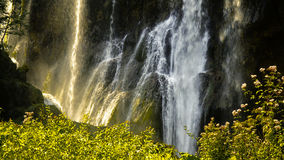 Plitvice lakes waterfall scene Royalty Free Stock Photography