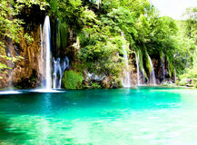 Plitvice lakes and waterfalls in Croatia Stock Images