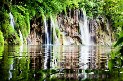 Plitvice lakes and waterfalls in Croatia Stock Photos