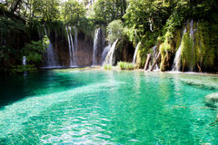 Plitvice lakes and waterfalls in Croatia Royalty Free Stock Photos