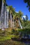 Plitvice lakes. Waterfalls at National parka Plitvice lakes, Croatia Stock Images