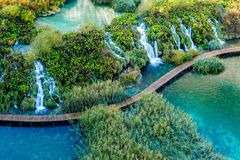 Plitvice lakes and waterfalls Stock Images
