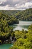 Plitvice lakes. Waterfalls in Plitviece lakes - Croatia Stock Image