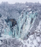 Plitvice lakes winter landscape Stock Photography