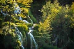 Plitvice liten kaskad för sjöar Arkivbild